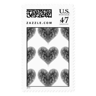PiecedLayered 2x2 BandW Postage Stamp