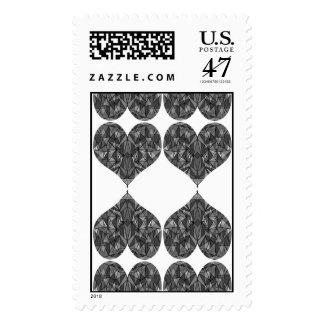 PiecedLayered 2x2 BandW Stamp