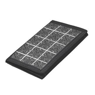 PiecedLayered 2x2 BandW Tri-fold Wallet