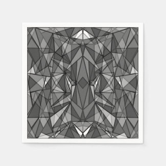 PiecedLayered BandW Paper Napkin