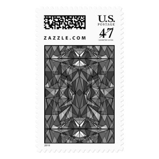 PiecedLayered BandW Postage Stamp