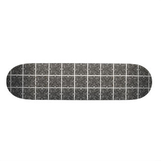 PiecedLayered BandW Skateboard Deck