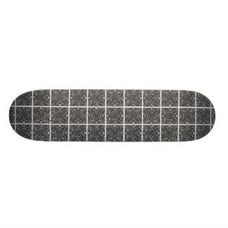 PiecedLayered BandW Skateboard Deck
