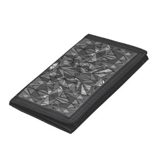 PiecedLayered BandW Tri-fold Wallet