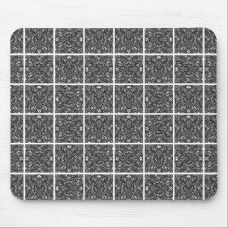 PiecedLayered teja 6x6 BandW Mousepads