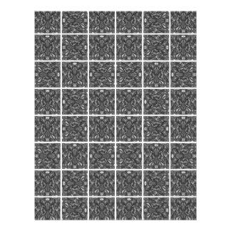 """PiecedLayered Tiles 6x6 BandW 8.5"""" X 11"""" Flyer"""