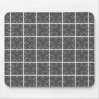 PiecedLayered Tiles 6x6 BandW Mouse Pad