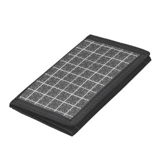PiecedLayered Tiles 6x6 BandW Tri-fold Wallets
