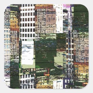 Pieces of A City Square Sticker