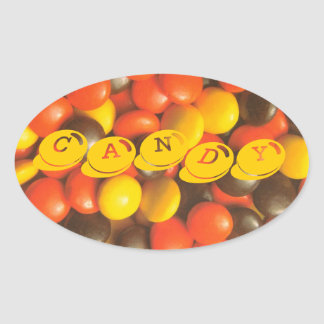 Pieces of Candy In Grandma's Jar Sticker Label