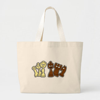 Pieces of chess - Chess Large Tote Bag