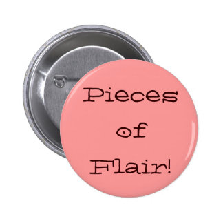 Pieces of Flair! colors/style: pink/brown/modern Pinback Button