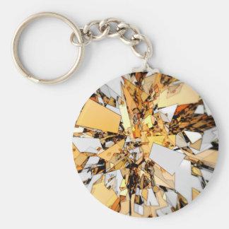 Pieces of Gold Basic Round Button Keychain
