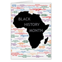Pieces Of History BHM Notecards Card