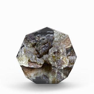 Pieces of natural frankincense acrylic award