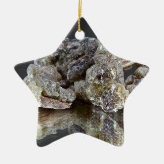 Pieces of natural frankincense ceramic ornament