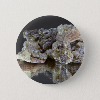Pieces of natural frankincense pinback button
