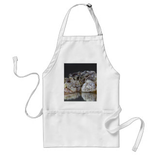 Pieces of natural frankincense resin on a mirror. adult apron