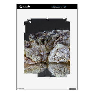Pieces of natural frankincense resin on a mirror. skin for the iPad 2