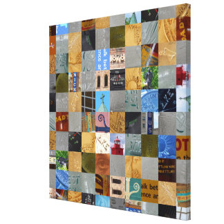 Pieces of Pictures Collage Canvas Print