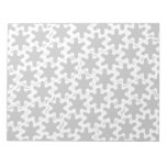 Pieces of the Puzzle Notepad - Grey