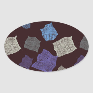 Pieces of tissue oval sticker