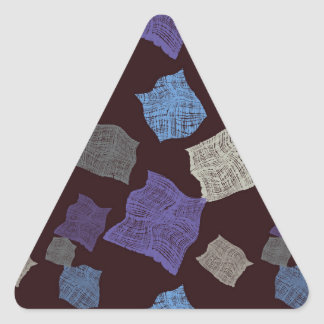 Pieces of tissue triangle sticker
