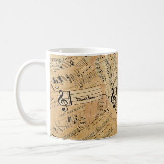 Pieces of Vintage Music ID389 Coffee Mug