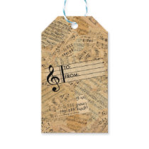 Pieces of Vintage Music ID389 Gift Tags