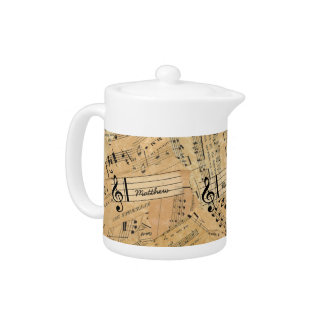 Pieces of Vintage Music ID389 Teapot