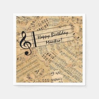 Pieces of Vintage Music POMV Paper Napkin
