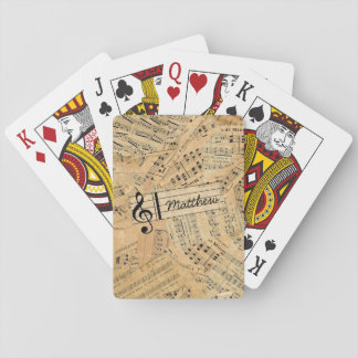 Pieces of Vintage Music POMV Playing Cards