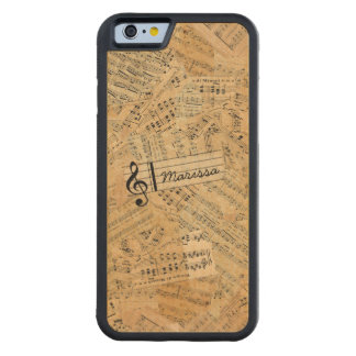Pieces of Vintage Music POMVa Carved Maple iPhone 6 Bumper Case
