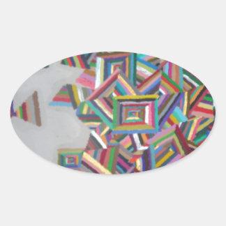 Pieces Oval Sticker