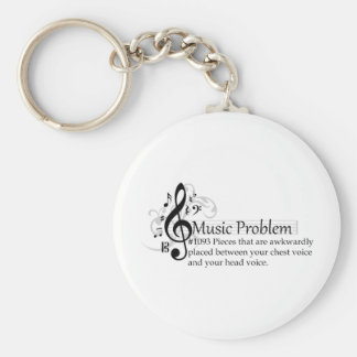 Pieces that are awkwardly placed... basic round button keychain