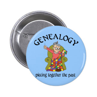 Piecing Together the Past Pinback Button