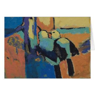 Pied babblers - Art card