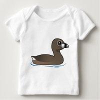 Pied-billed Grebe Baby Fine Jersey T-Shirt