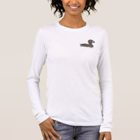 Pied-billed Grebe Women's Basic Long Sleeve T-Shirt