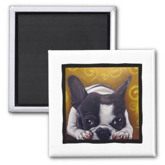 Pied Frenchie Nap Magnet