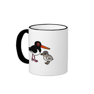 Pied Oystercatcher with chick Ringer Mug