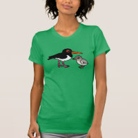 Pied Oystercatcher with chick Women's American Apparel Fine Jersey Short Sleeve T-Shirt