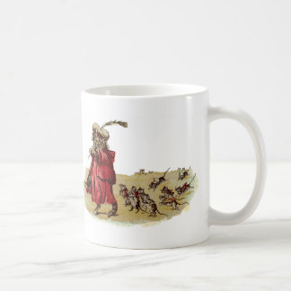 Pied Piper Cat Leading Rats Coffee Mug