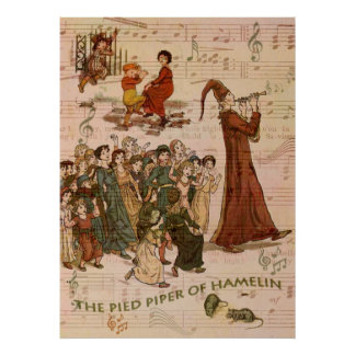 Pied Piper Collage Poster