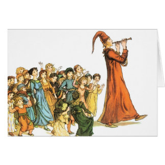 Pied Piper Illustration by Kate Greenaway Card