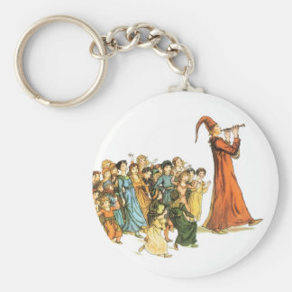 Pied Piper Illustration by Kate Greenaway Keychain