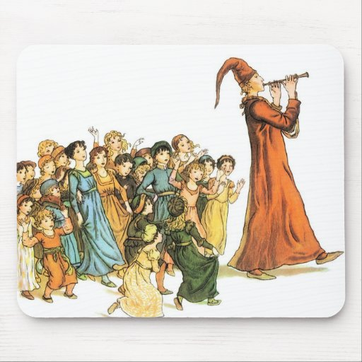 Pied Piper Illustration by Kate Greenaway Mouse Pad
