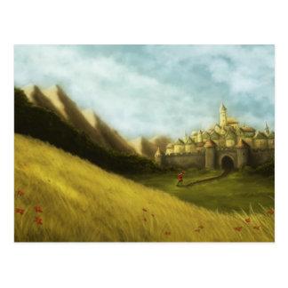 pied piper of hamelin fairytale postcard