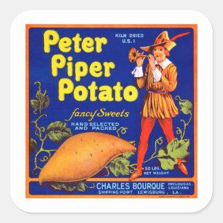 Pied Piper Potato Square Sticker