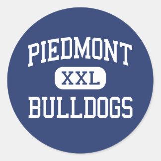 Piedmont Bulldogs Middle Piedmont Alabama Classic Round Sticker